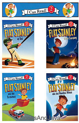 I Can Read L2 Flat Stanley Firehouse Goes Camping At Bat Haunted House  Pb  4Bk