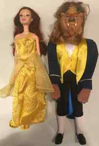 BELLE & BEAST barbies DISNEY