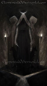 Hecate PRINT, Greek mythology witch goddess painting, pagan artwork, dark art A4