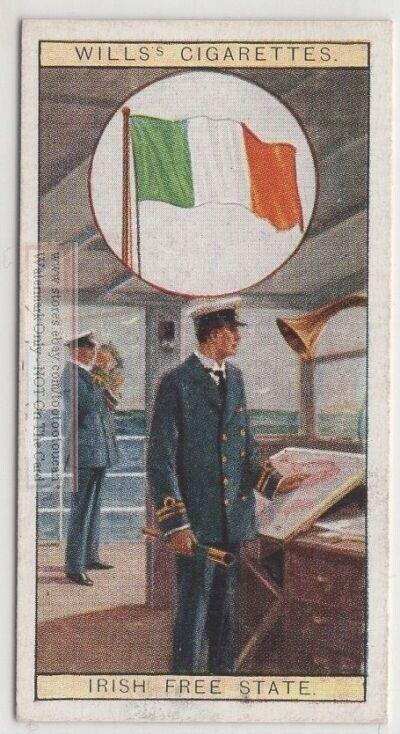 Flag Of The Irish Free State 80+ Y/O Ad Trade Card