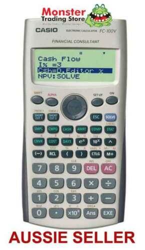 AUSSIE SELLER CASIO FINANCIAL CALCULATOR FC-100V FC100V FC100 NEW ...