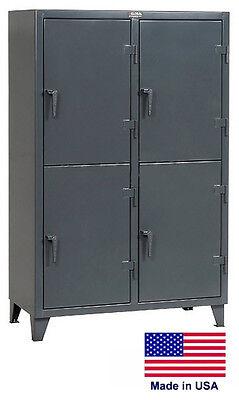 Personnel - Personal Locker Coml Industrial - 4 Lockers - 78 H X 24 D X 50 W