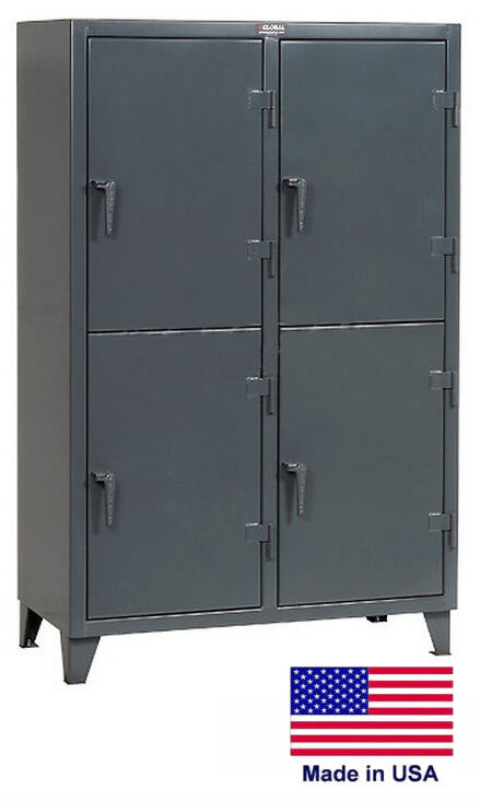 Personnel - Personal Locker Coml / Industrial - 4 Lockers - 78 H X 24 D X 50 W