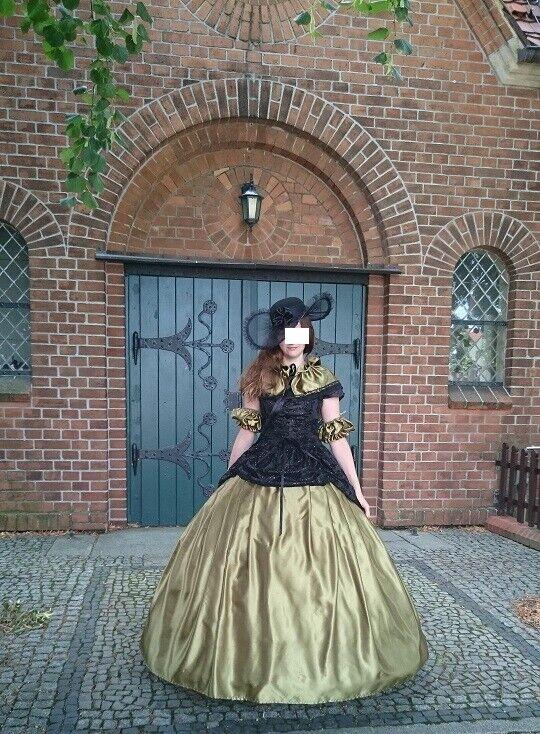 WGT Ballkleid*Steampunk*Barock*Prinzessin*Prinzenpaar*Corsage& Rock*40-44