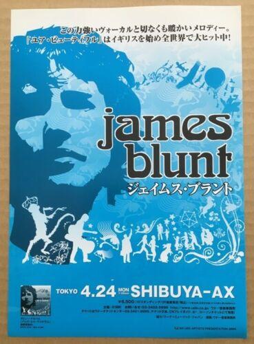 $0 ship! JAMES BLUNT Japan PROMO flyer MINI poster MORE listed 2006 tour BEDLAM