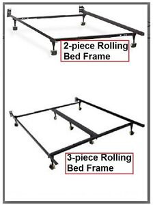 rolling metal steel bed frames textcall pls - Rolling Bed Frame