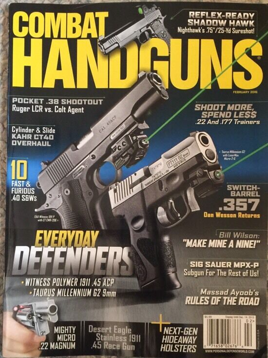 Combat Handguns Everyday Defenders Shoot More Feb 2016 FREE SHIPPING!