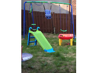 Double swing and see saw set
