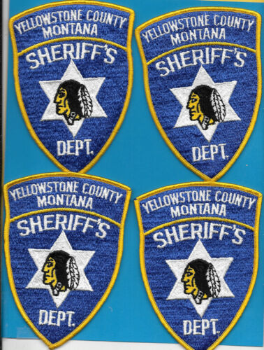 LOT OF 4 POLICE PATCH LOT YELLOWSTONE COUNTY MONTANA YC SO SD INDIAN MOTIF