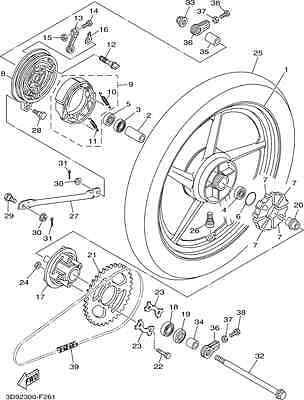 GENUINE YAMAHA YBR125 YBR 125 CUSTOM CUSH DRIVE SPROCKET