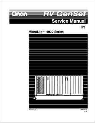 Onan KY 4000 Series MicroLite Generator Sets Service Manual (B317)
