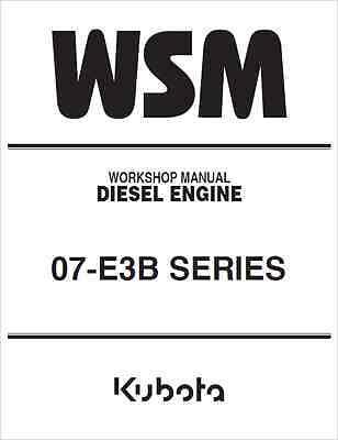 Kubota 07-E3B Series Engine Workshop Manual (B274)