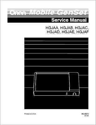 Onan HGJAA, HGJAB, HGJAC, HGJAD, HGJAE, HGJAF Generators Service Manual (B316)