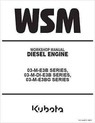 Kubota 03-M-E3B, 03-M-DI-E3B, 03-M-E3BG SERIES Engine Workshop Manual (B273)