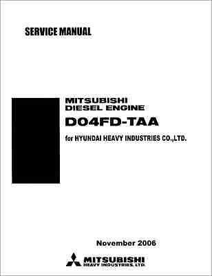 Mitsubishi D04FD-TAA Engine Service Manual (B306)