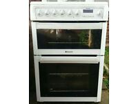 Hotpoint 60cm double oven electric cooker