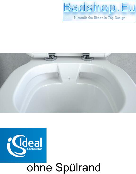 ideal standard connect wc randlos ohne sp lrand tiefsp ler mit softclose sitz eur 289 00. Black Bedroom Furniture Sets. Home Design Ideas