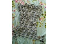 Frilly Dorothy Perkins size 10 patterned blouse