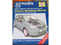 Haynes manual citroen c3 2002 to 2009