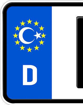 2x Aufkleber Türkei ISLAM Turkey türkiye Nummernschild Kennzeichen Plakette Halb