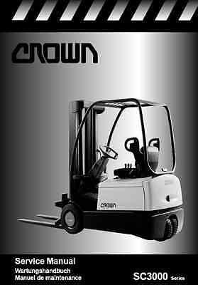 Crown SC3000 Series Forklift Service Manual (B181)