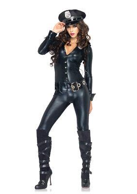 Leg Avenue 83912 Officer Payne Adult Halloween Jumpsuit Costume Size M or - Officer Payne Halloween Costume