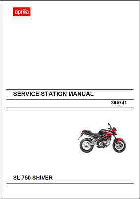 Aprilia SL 750 Shiver Service Station Manual 2010-2012 (B20)
