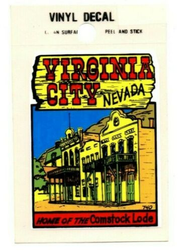 Lot of 12 Virginia City, Nevada Souvenir Decals Stickers - New - Free S&H