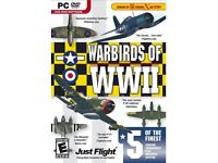 £25 BARGAIN - WARBIRDS of WWII PC DVD game - Windows Vista or XP as new