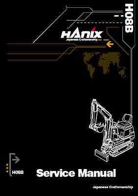 Hanix H08B Mini Excavator Service Manual (B52)