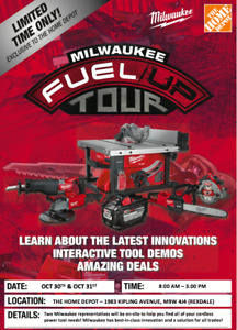 MILWAUKEE POWER TOOL EVENT - The Home Depot (1983 Kipling Ave)