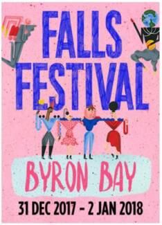 selling  1 X falls Byron 3 day + camping ticket
