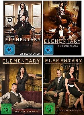 24 DVDs * ELEMENTARY - SEASON / STAFFEL 1 + 2 + 3 + 4  IM SET # NEU OVP +