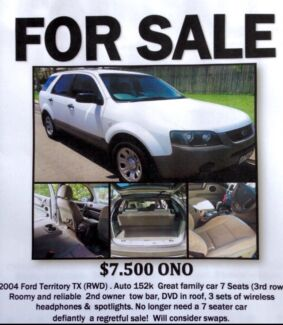 2004 Ford Territory Wagon Ingham Hinchinbrook Area Preview