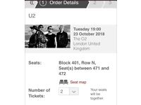 Two tickets - U2 in London