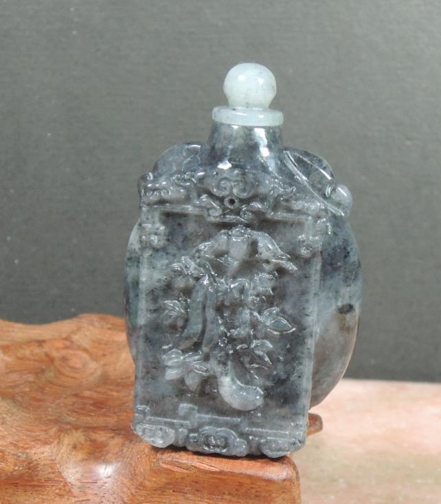 Certified 100% Natural A Jade jadeite pendant Pumpkin Snuff Bottle 388502 am