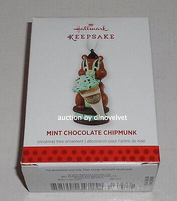 MINT CHOCOLATE CHIPMUNK HALLMARK KEEPSAKE CHRISTMAS ORNAMENT 2013 NEW IN BOX !