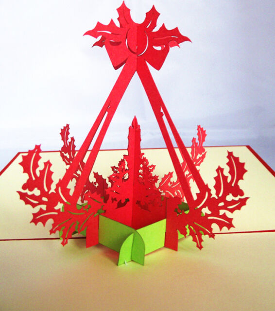 Advent Candle Crown Christmas Kirigami Card Awesome 3D Pop Up Greeting Card