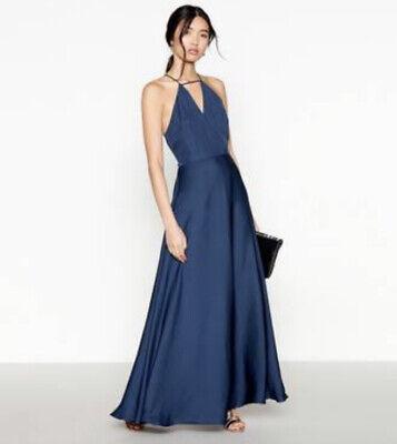 Jenny Packham Occasion Bridesmaid Navy Blue Dress, Size 16, BNWT