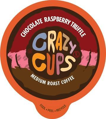 Crazy Cups Flavored Coffee for Keurig K Cups Chocolate Raspberry Truffle 22ct](Crazy Cups)