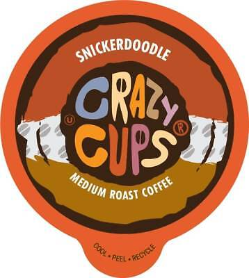 Crazy Cups Flavored Coffee for Keurig K Cups 2.0 Brewer Snickerdoodle 22ct](Crazy Cups)