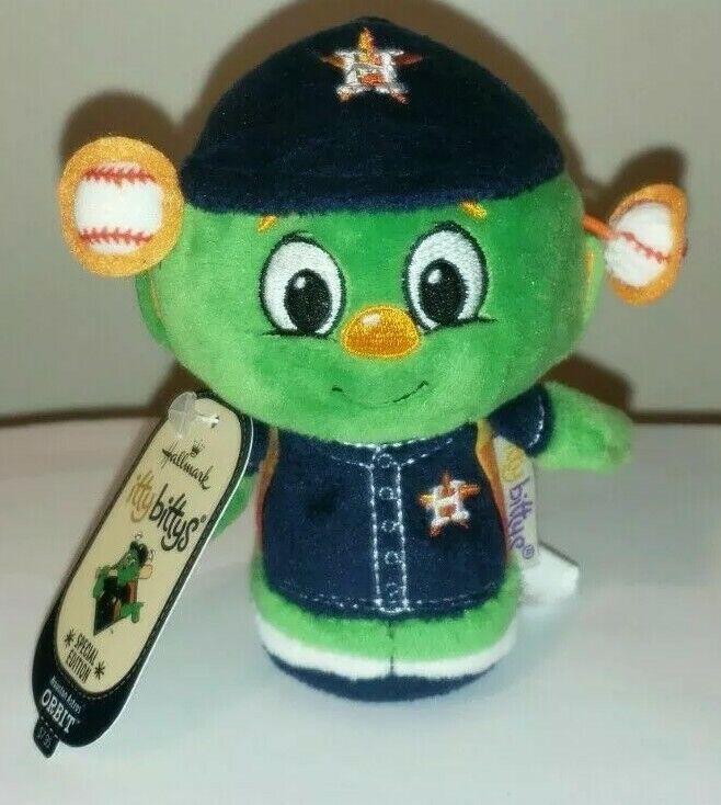 Hallmark Itty Bittys - ORBIT MLB Baseball (Houston Astros Mascot) SE NWT