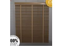 Wood Venetian blinds with tapes x4