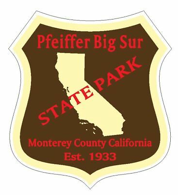 Pfeiffer Big Sur State Park (Pfeiffer Big Sur State Park Sticker R4898 California YOU CHOOSE SIZE)