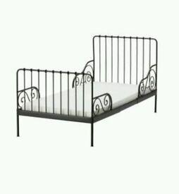 Ikea Minnen Black Toddler/Child Bed