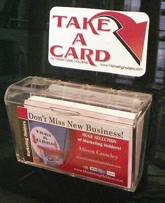 Business Card Holder Car - Outdoor Business Card Holder LARGE for Realtor or Cars