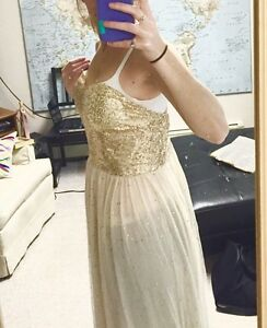 Fun Gold Sequin Party Dress x 3!