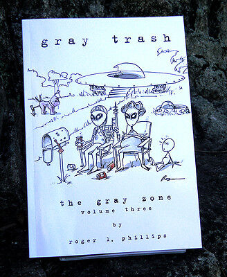 Gray Trash alien & UFO Cartoon Book NEW!