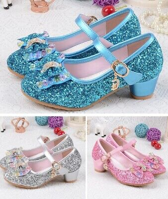 Kids Girls Cone High Heels Shoes Fashion For Party Children Sandals Ankle Strap - High Heel Shoes For Kids Girls