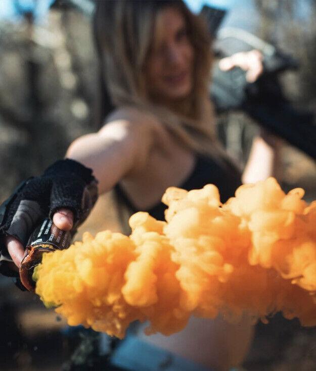 Enola Gaye Orange Wire Pull Micro Smoke Grenade - Video Or Photography Effects